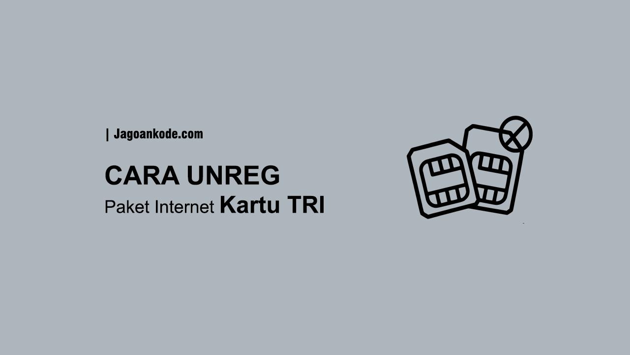 Cara Stop Semua Paket Internet Kartu Tri 3 Jagoan Kode