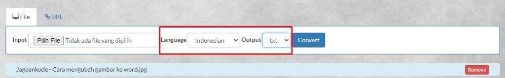 Menggunakan Layanan Situs Convert JPG to WORD