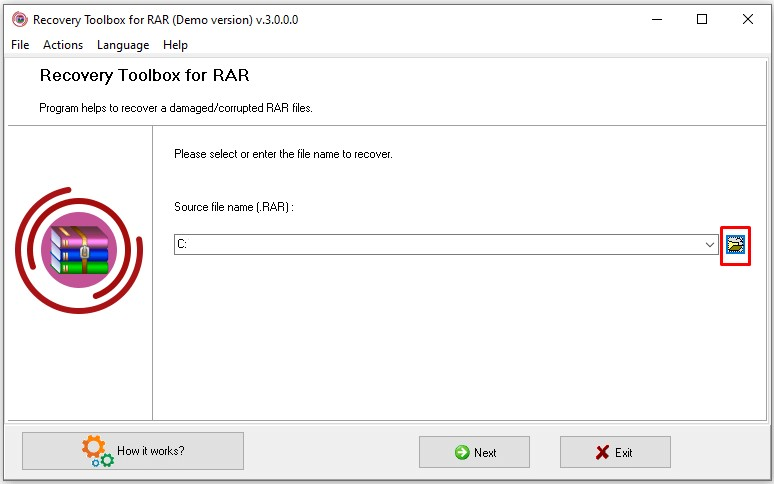Recovery Toolbox for RAR