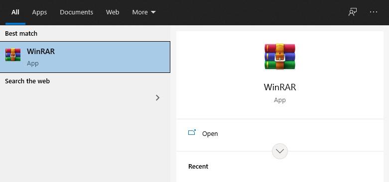 Membuat Folder melalui WinRar