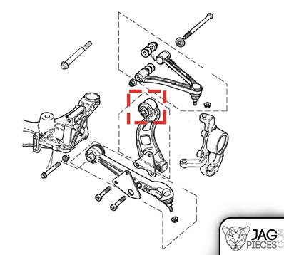 Silentbloc de triangle inférieur avant référence MNE1360CA