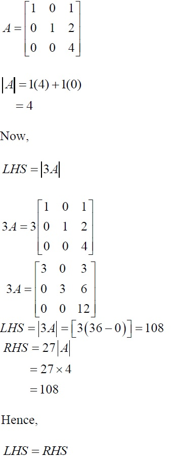 CBSE Class 12 Maths, NCERT Solutions, Chapter 4, Exercise 4.1