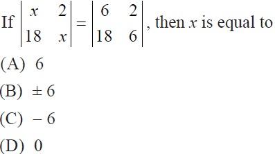 NCERT Solutions, CBSE Class 12 Maths, Chapter 4, Exercise 4.1