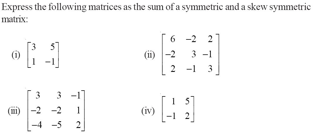 CBSE 12th Maths NCERT Solution, Chapter 3: Matrices