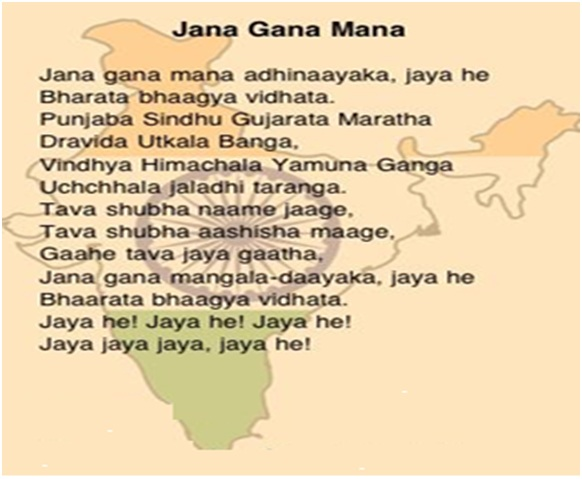 Indian National Anthem In Hindi Composed By Rabindranath Tagore The Song Jana Gana Mana Was First Sung On December 27 1911 At Calcutta Session Of