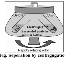 seperation by centrifugation