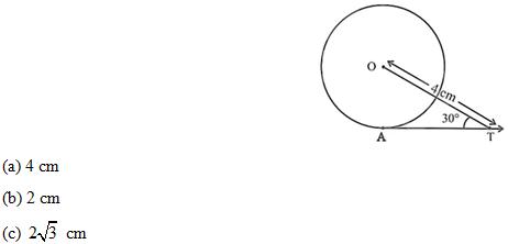 NCERT Exemplar solution for class 10 Maths Circles part 1A
