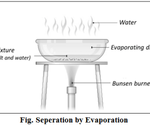 seperation by evaporation