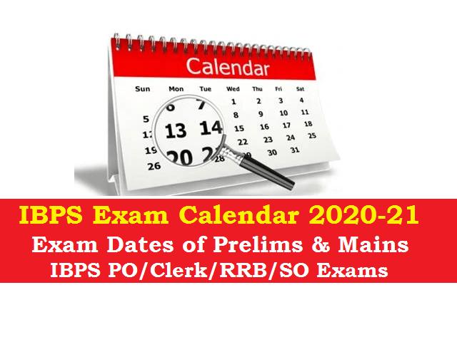 IBPS Calendar 2020-21