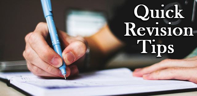 Quick revision tips for students CBSE
