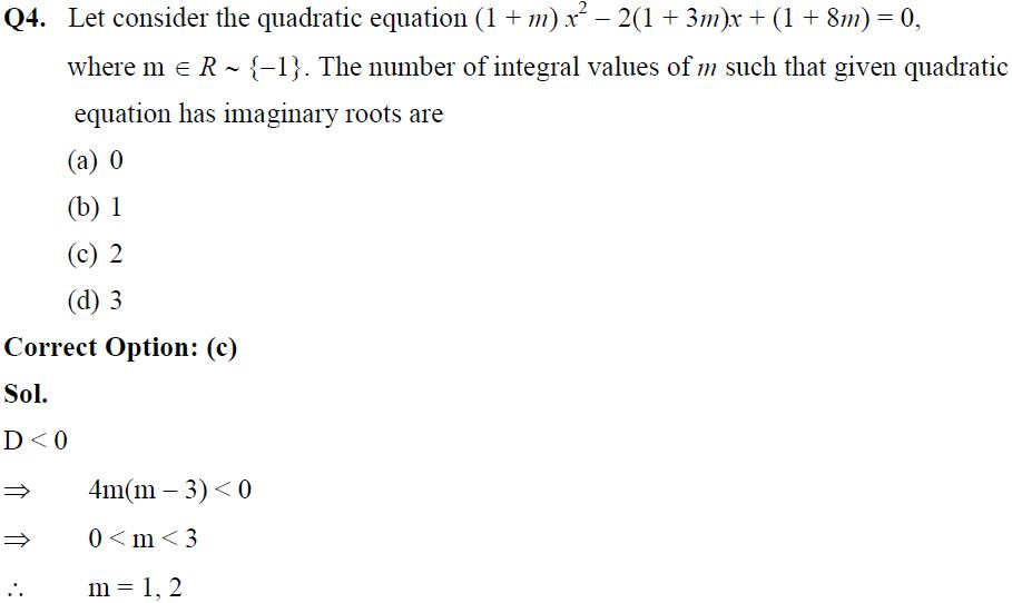IIT JEE Main Theory of Equations Solved Practice Paper
