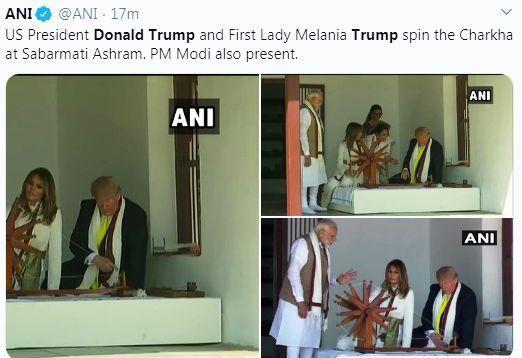 Trump visit to Sabarmati Ashram