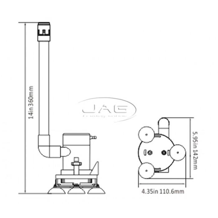 Seaflo 09-Series 350GPH Portable Aerator Kit 12V