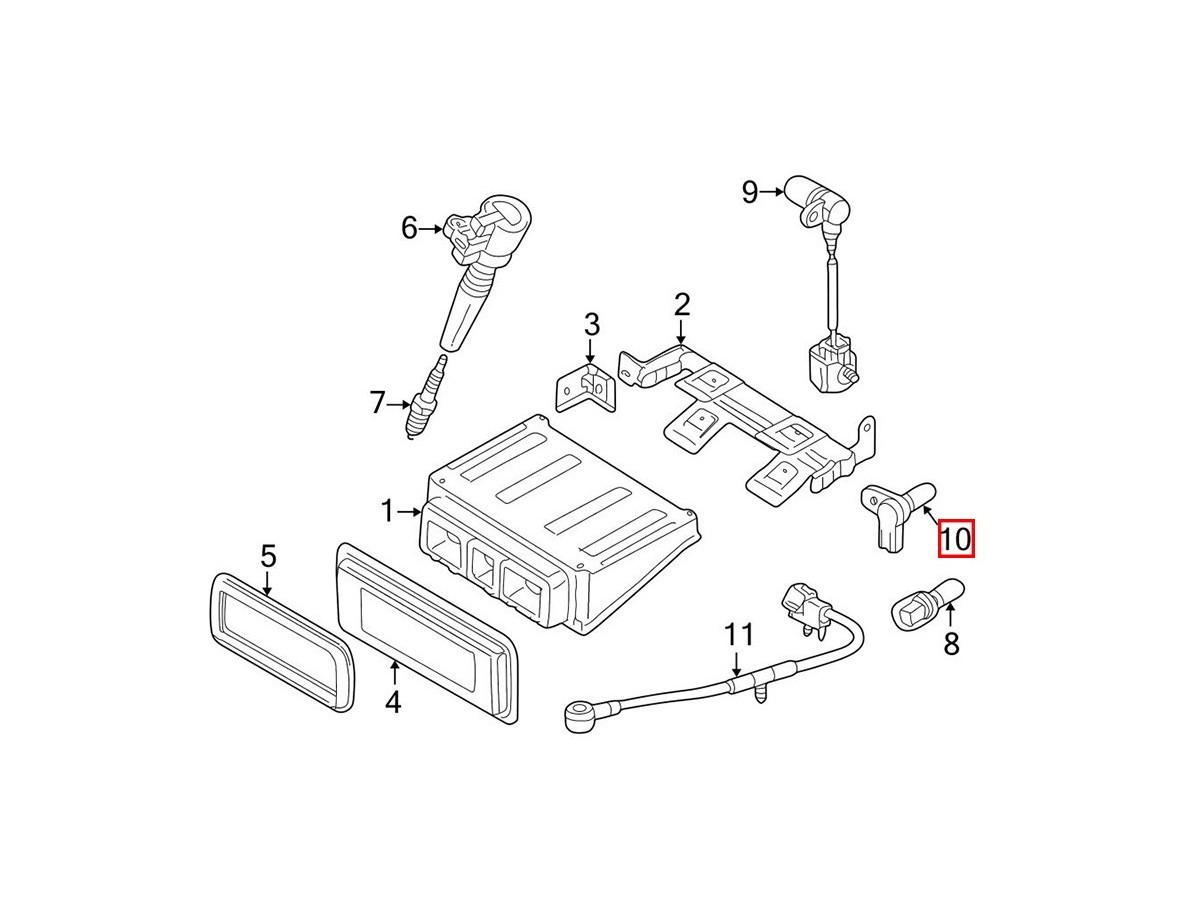 Crankshaft Position Sensor AJ81284 Jaguar S-Type