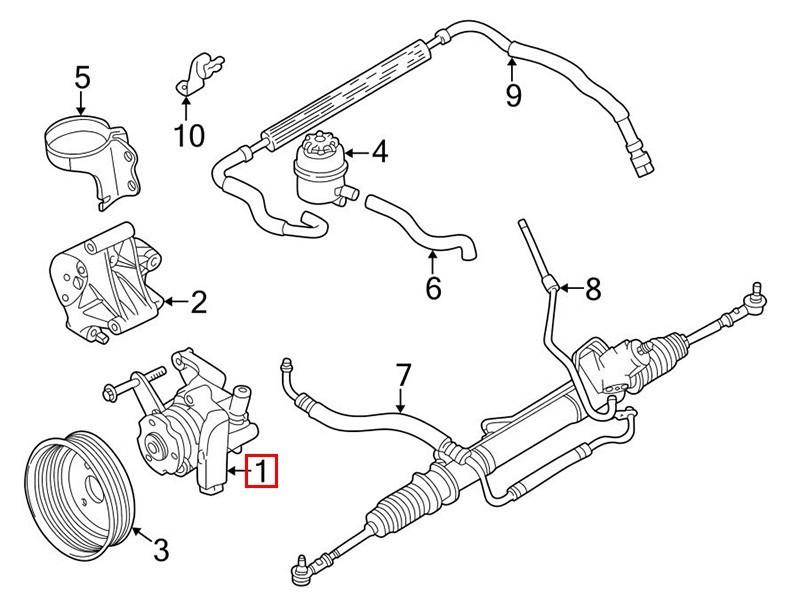 Pompe de direction assistée MJA8111BH Jaguar XJ X308