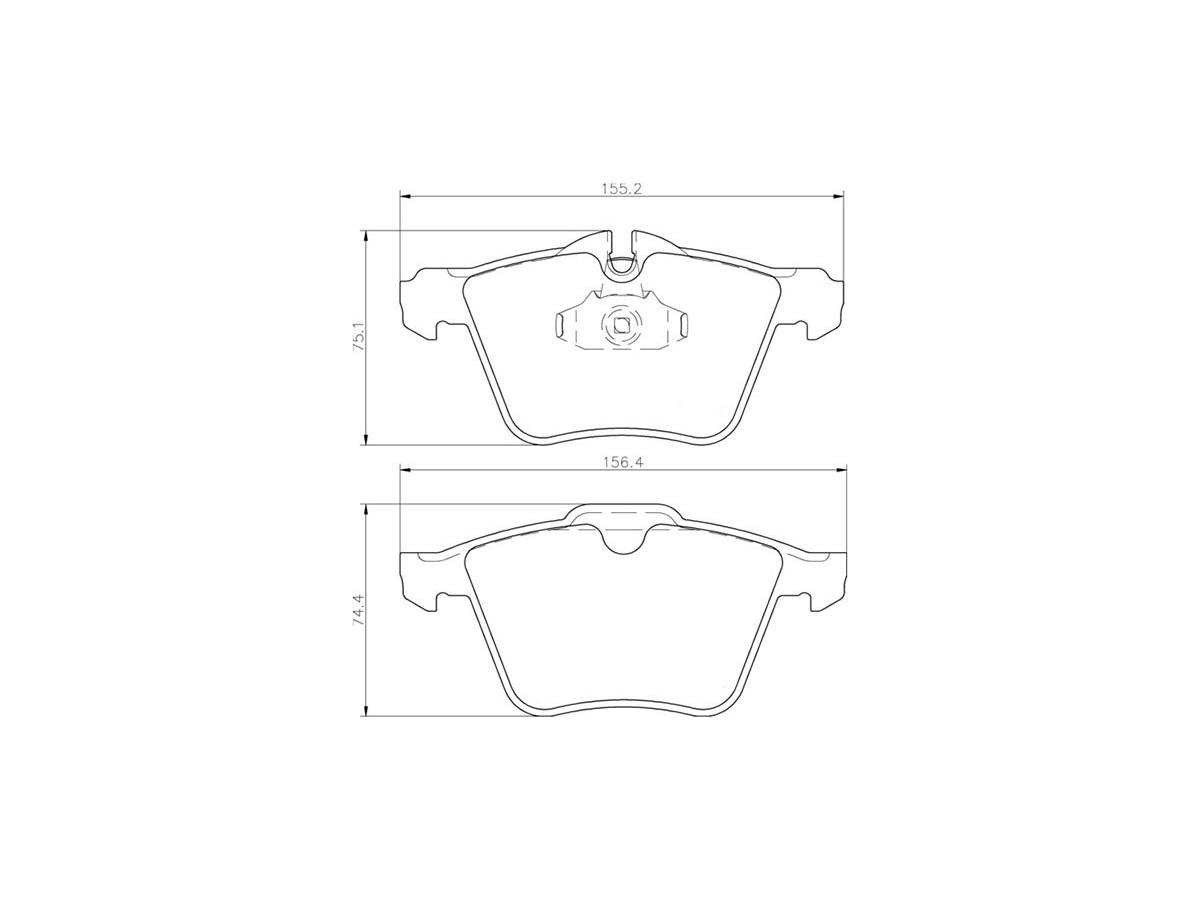 Plaquettes de frein avant C2Z14096 Jaguar XKR 4.2 SC & XK 5.0