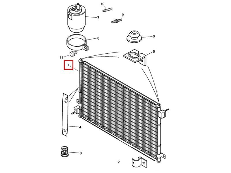 Condenseur de climatisation XR856373 Jaguar XK X150