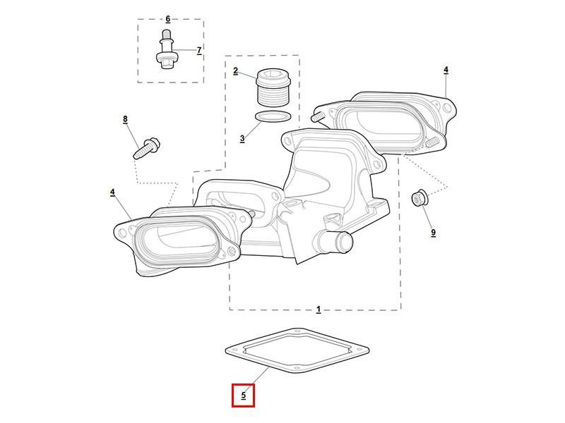 Joint de compresseur NCC7735BA Jaguar S-Type R