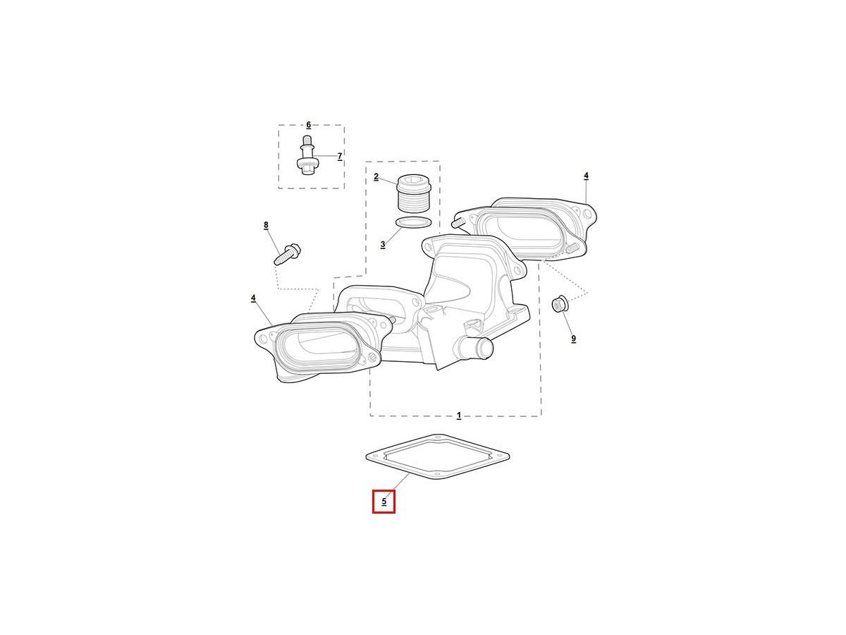 Supercharger Outlet Elbow Seal For Jaguar S Type R Xjr