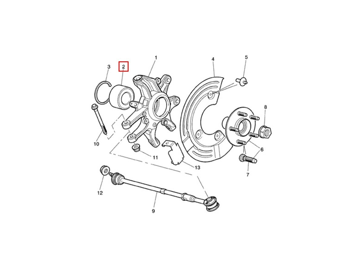 Rear wheel bearing XR81723 Jaguar S-Type / X350