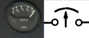 EType Fuel, Temp, Oil, Ammeter Gauge Wiring Diagram