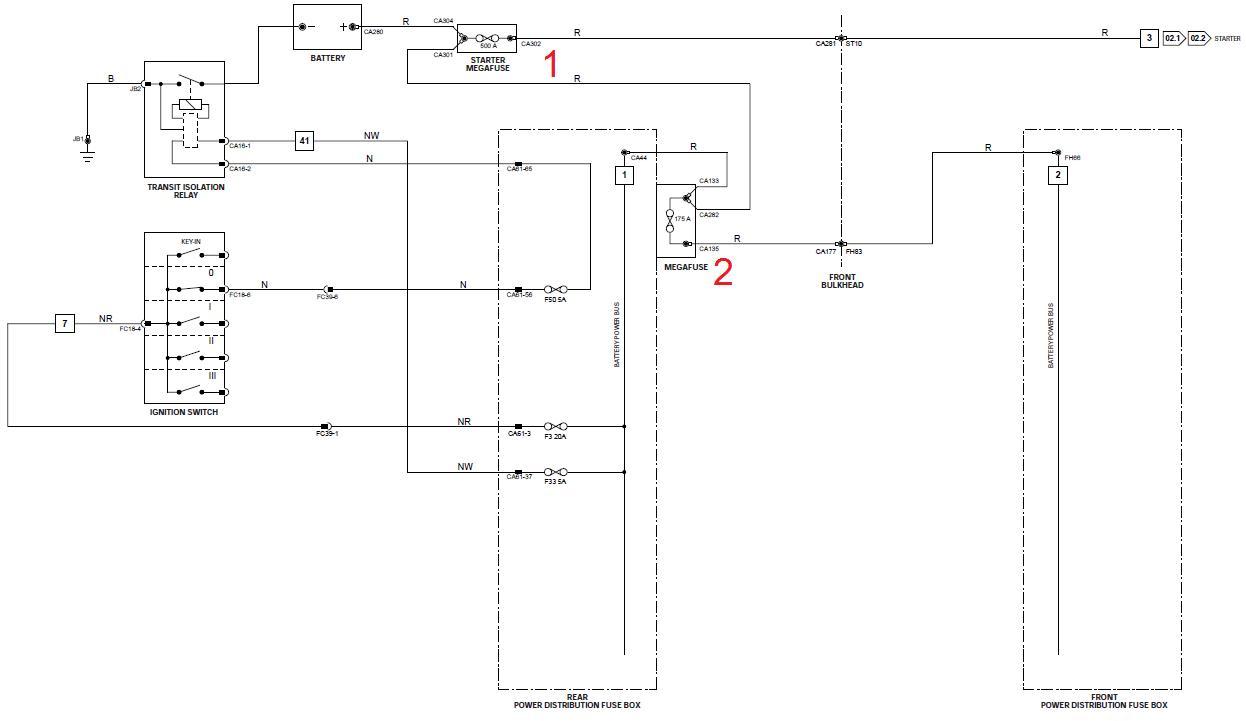 hight resolution of battery drain diagnosis where are mega fuses diagram jaguarbattery drain diagnosis where are mega fuses
