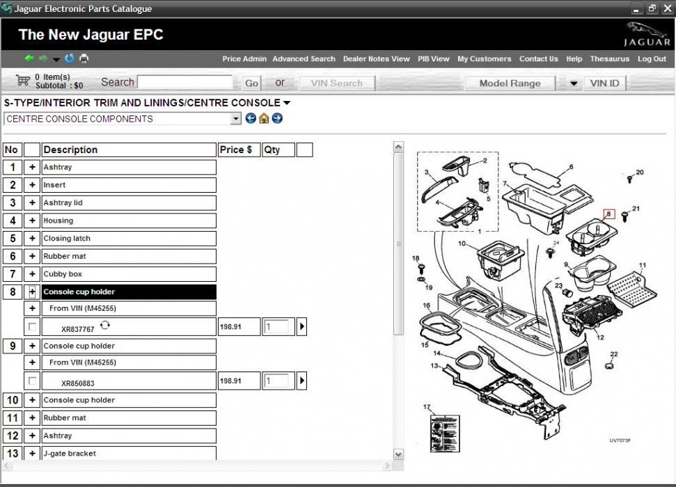 jaguar epc electronic parts catalog