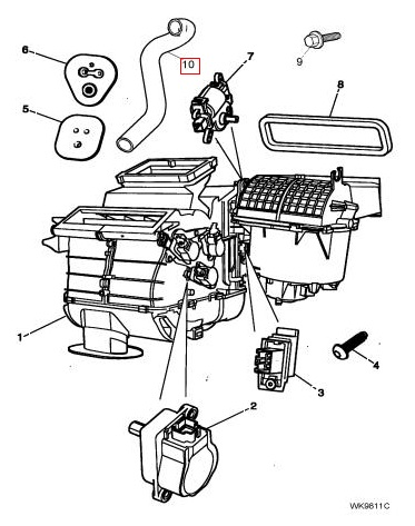 2001 Jaguar S Type Radiator Hose, 2001, Free Engine Image
