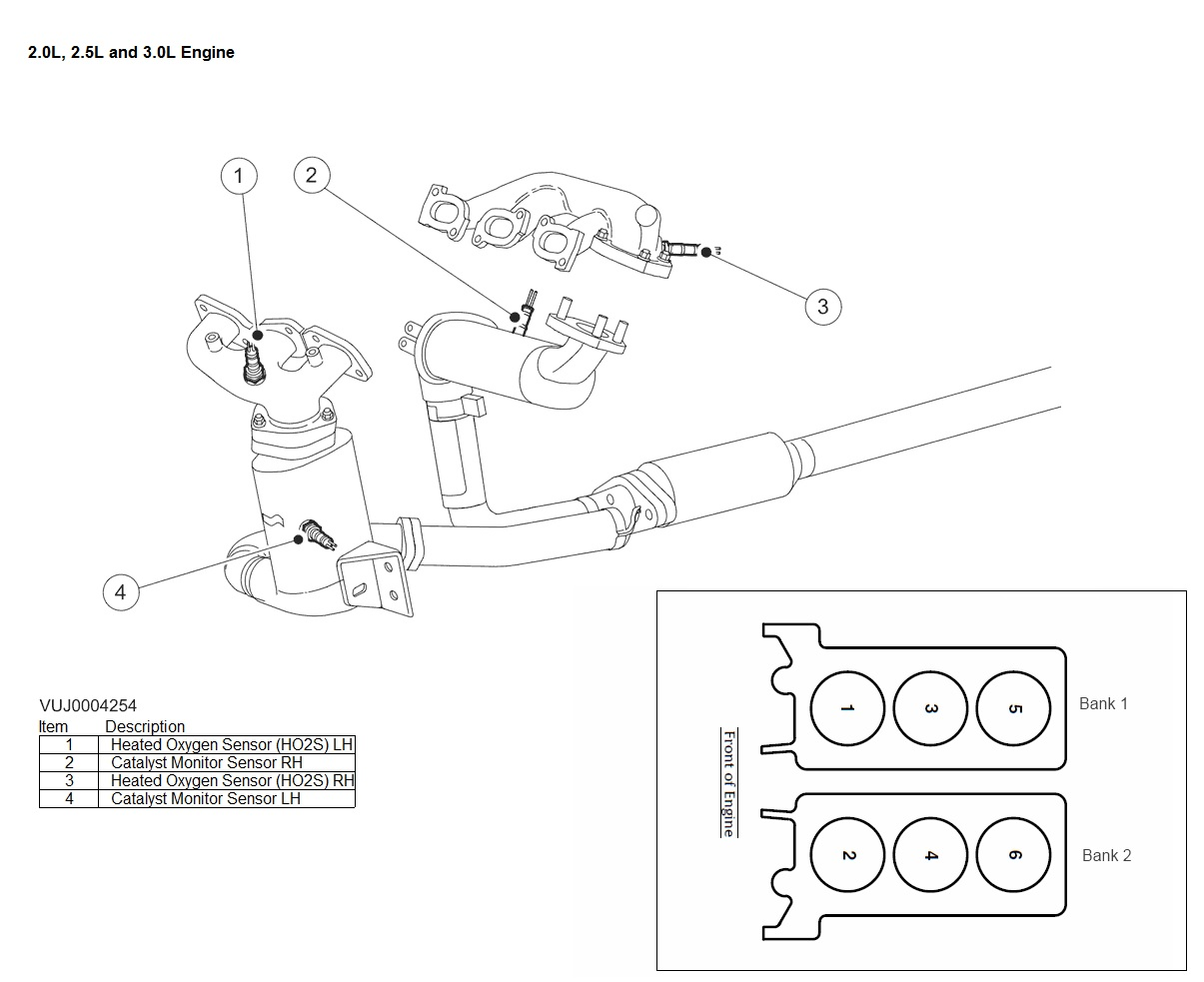 Nissan Maxima O2 Sensor Location, Nissan, Free Engine