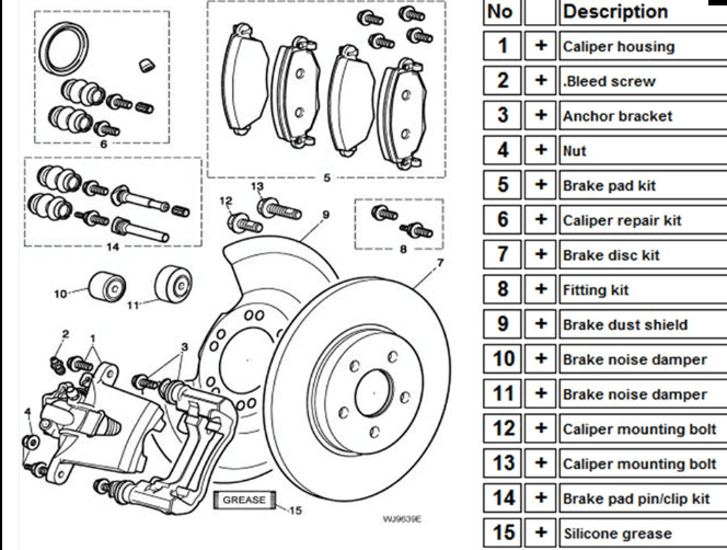 2002 Jaguar S Type Rear Suspension Parts