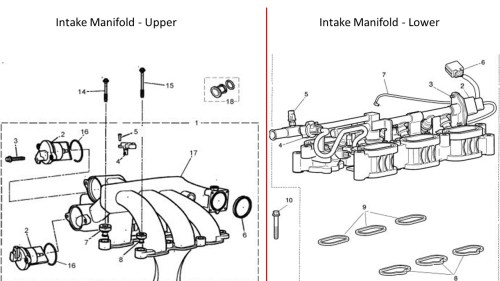 small resolution of intake manifold bolts 2004 x type 3 0l jaguar xtype intake manifold upper lower jpg