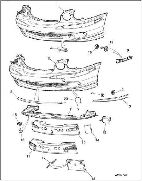 Service manual [2003 Jaguar X Type Rear Bumper Removal