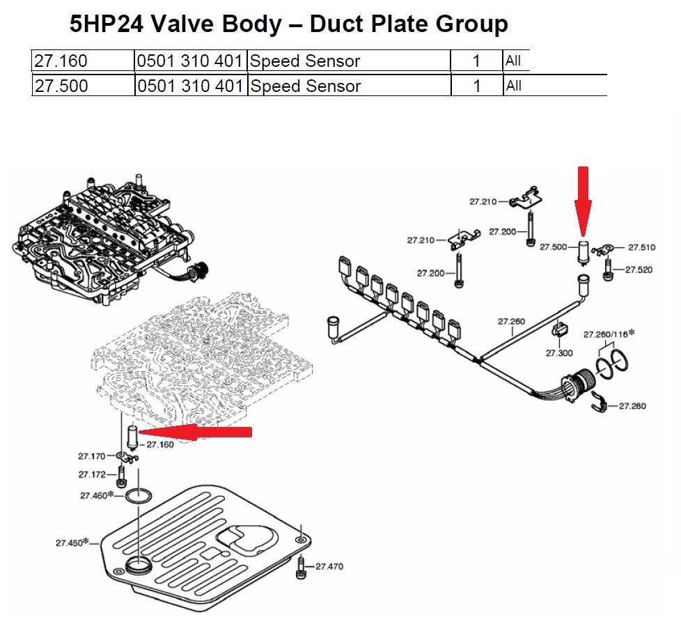 ZF5HP24 Transmission Speed Sensors (Input & Output