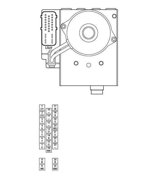 1996 f250 abs module location