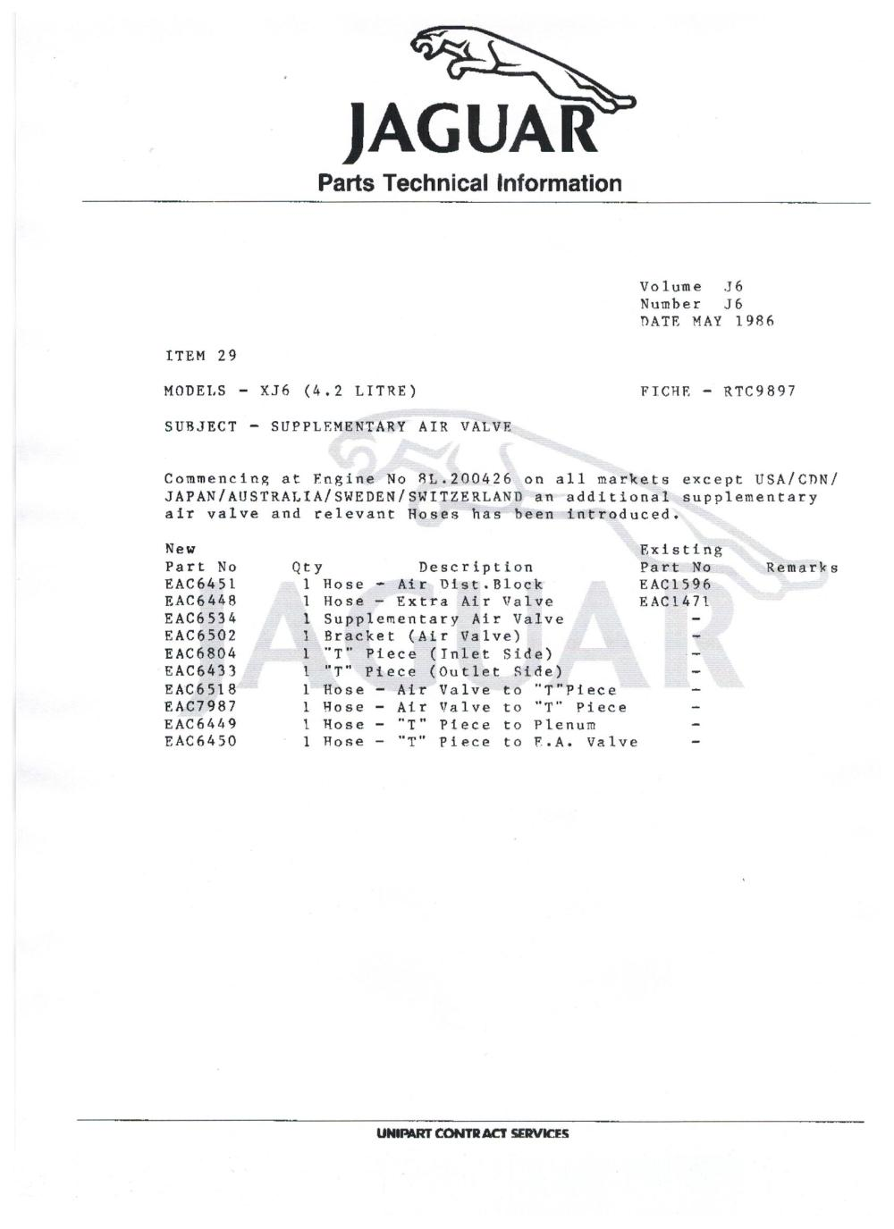 medium resolution of wiring schematic 1985 86 series 3 extra air valve jaguar forums 1985 jaguar xj6 wiring diagram