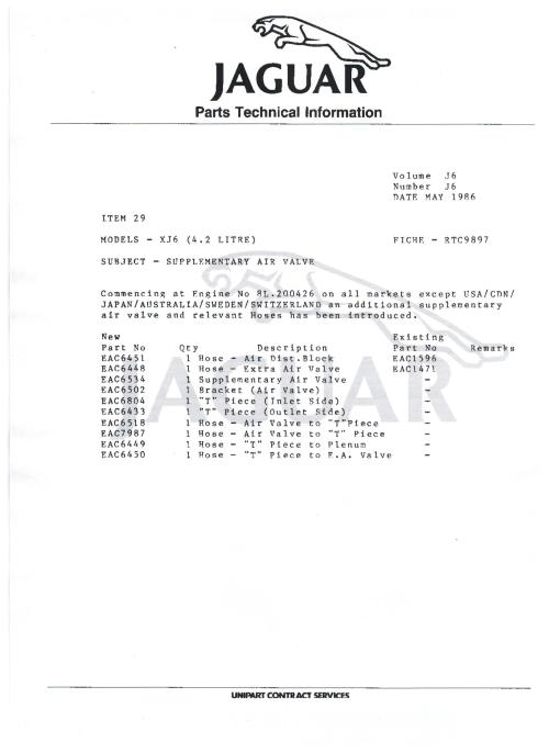 small resolution of wiring schematic 1985 86 series 3 extra air valve eac6534 001 jpg