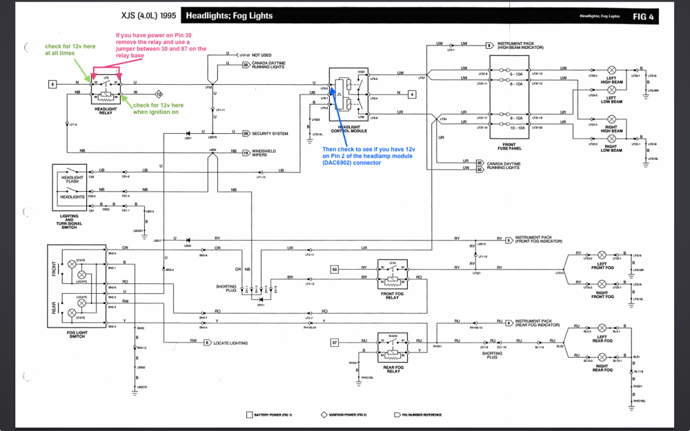 medium resolution of diagram also jaguar headlight relay on 1986 jaguar xj6 relay diagram jaguar x type headlight wiring