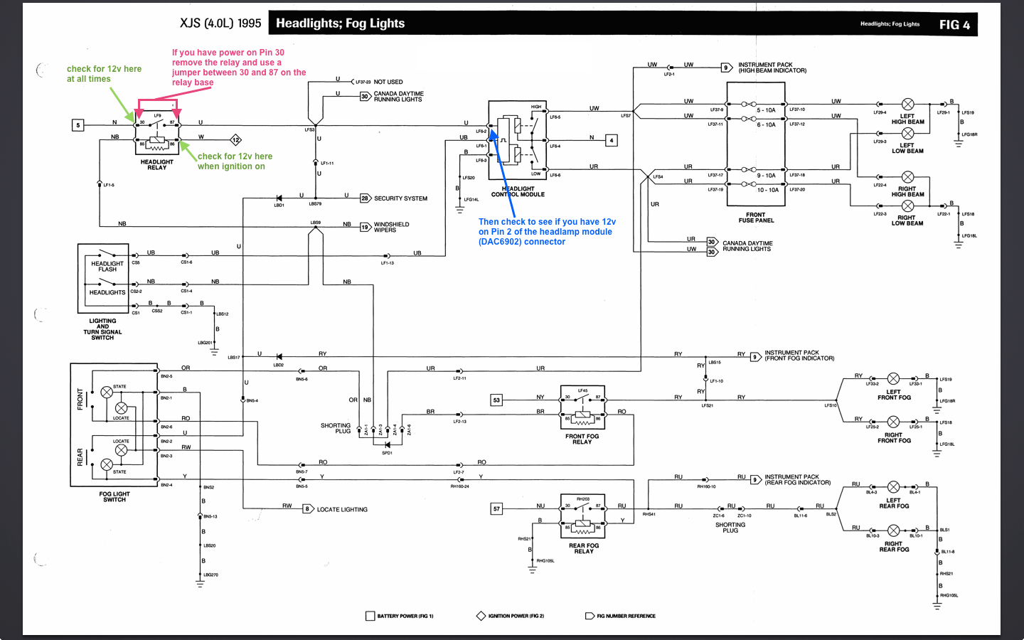 hight resolution of diagram also jaguar headlight relay on 1986 jaguar xj6 relay diagram jaguar x type headlight wiring