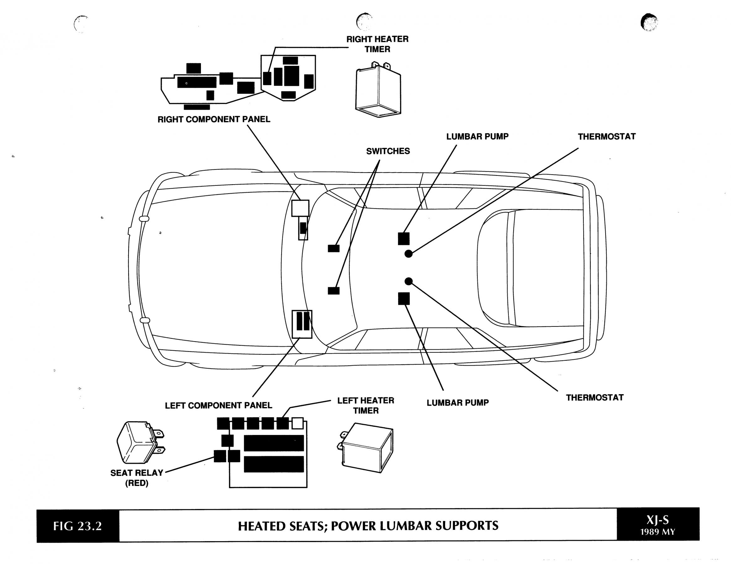 jaguar xjs seat wiring diagram