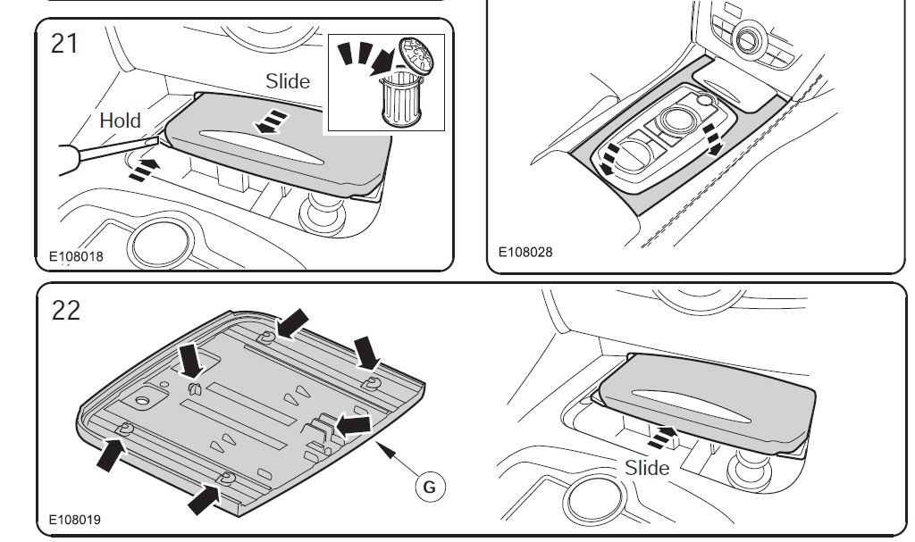Service manual [Remove Ash Tray In A 2006 Jaguar S Type