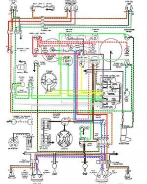 Free! Self made Colour coded XK120 LHD DHC wiring diagram
