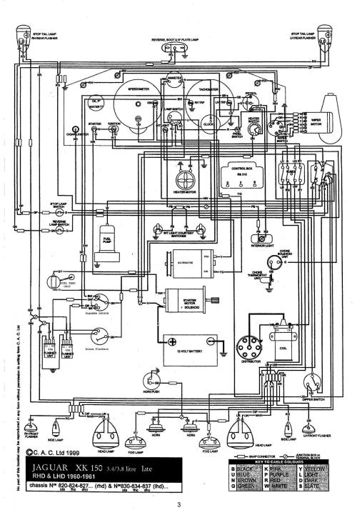 small resolution of info needed for xk150 early alternator amp earth conversion xk150 wire