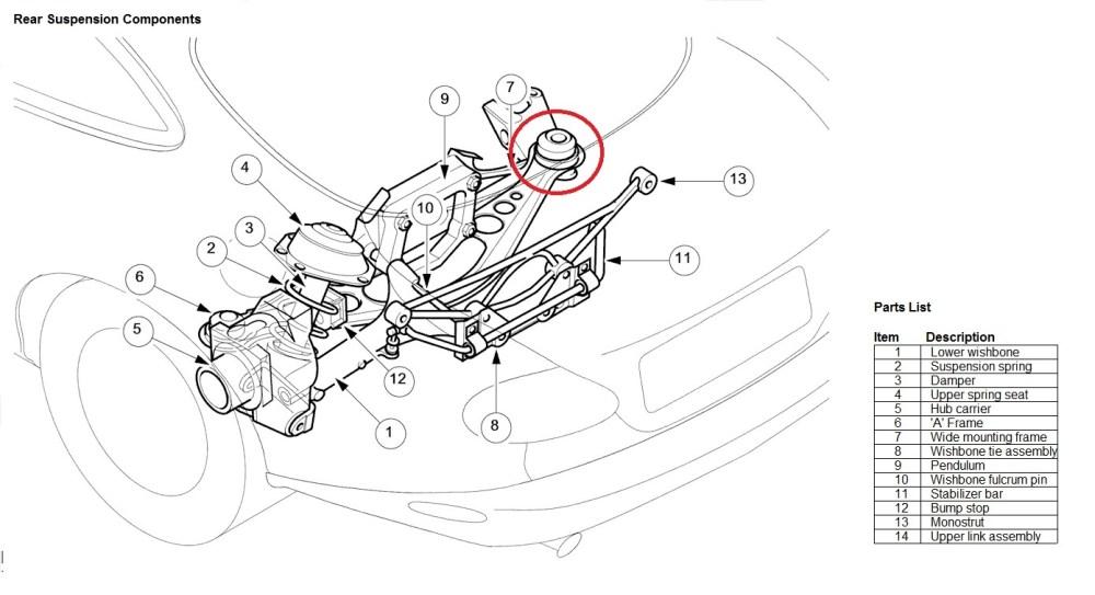 medium resolution of xkr rear knocking xk8 rear suspension jpg