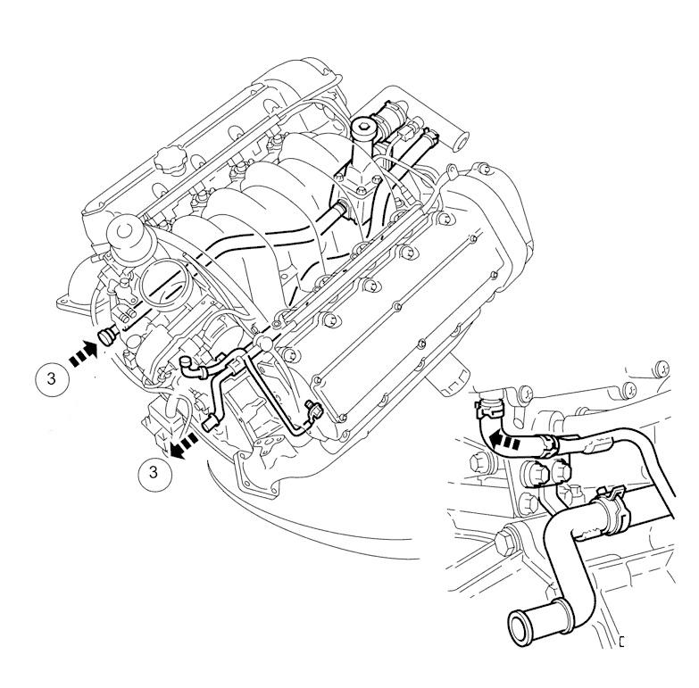 jaguar xkr engine coolant leak