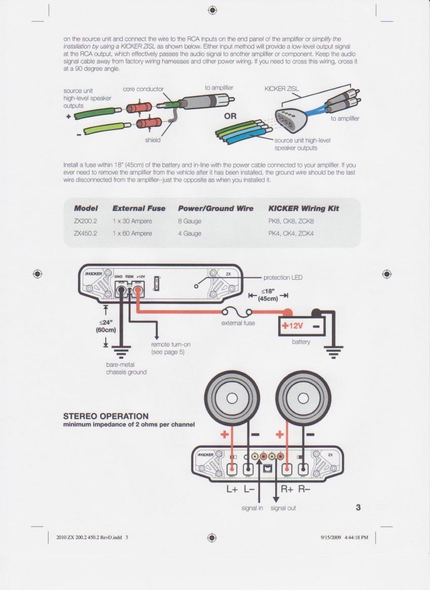 car amplifier wiring kit agu 0 2 4 8 ga fuse