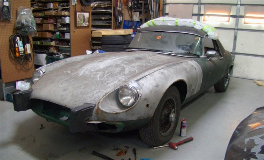 Jaguar XKE E-Type pre-restoration