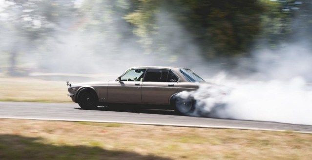 1985 Jaguar XJ6 drift car.