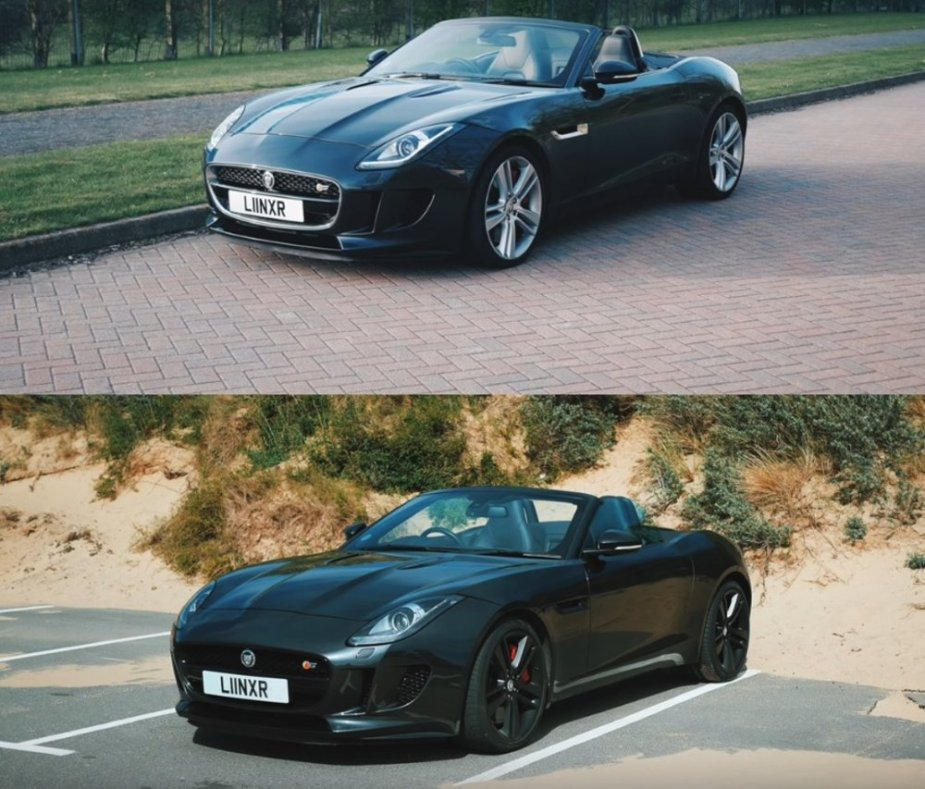 Jaguar F-Type Before and After Mods