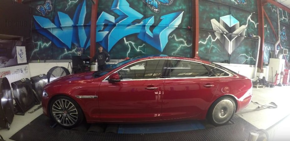 Jaguar XJR Hood Down on Dyno
