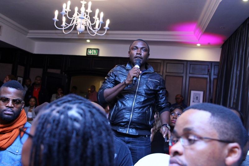 Chucks Nwanne of the Guardian at the MTV Africa All Stars press conference